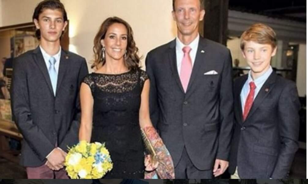 Aux J.O de Rio avec sa belle-mère, la princesse Marie, son père et son frère Félix