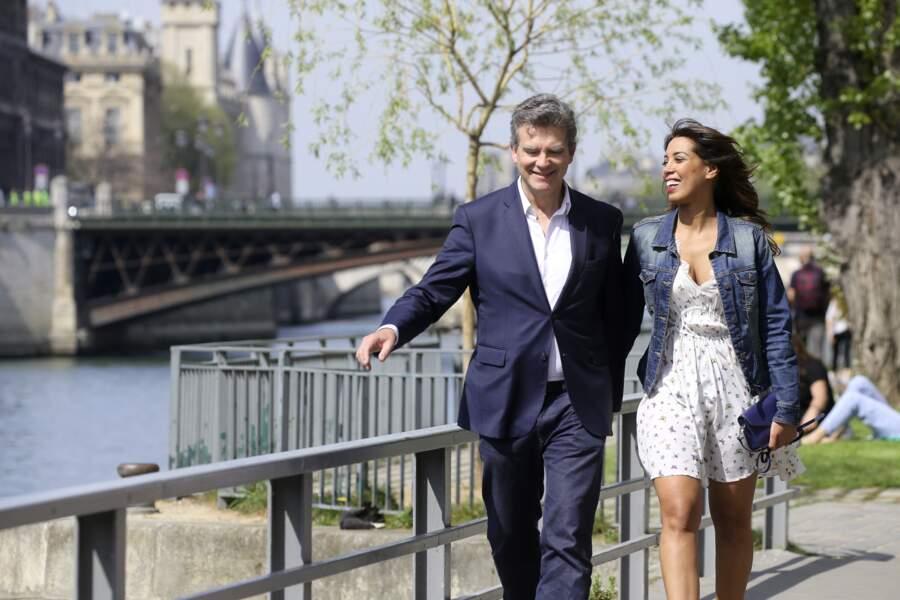 Arnaud Montebourg et Amina Walter à Paris