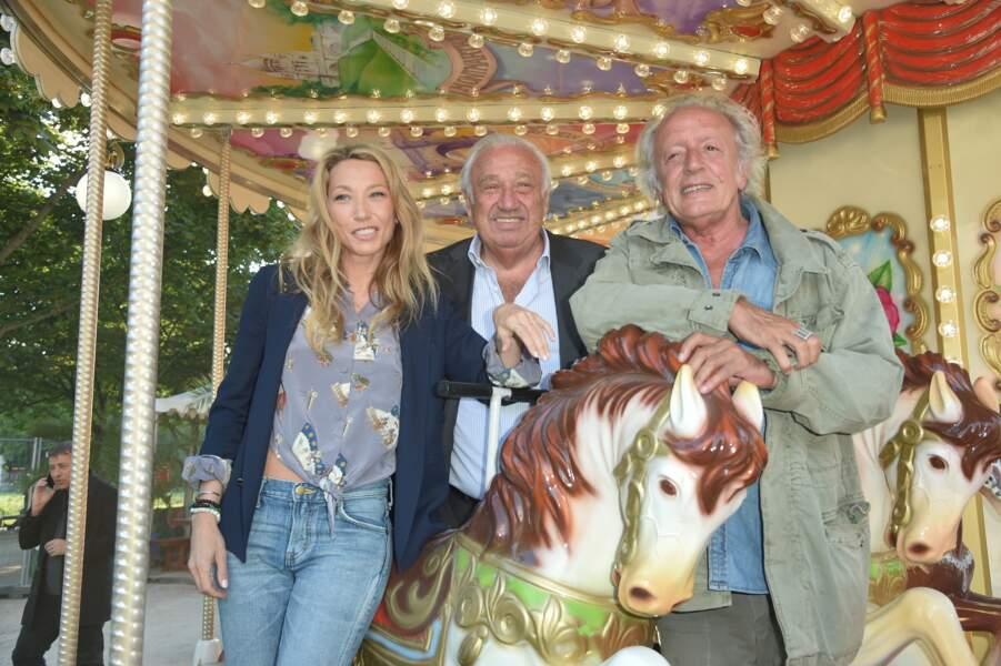 Laura Smet, Marcel Campion et Didier Barbelivien à la Soirée d'inauguration de la 35ème fête foraine des Tuileries