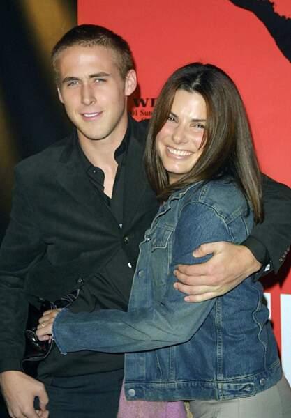 Ryan Gosling et Sandra Bullock à Los Angeles en 2001
