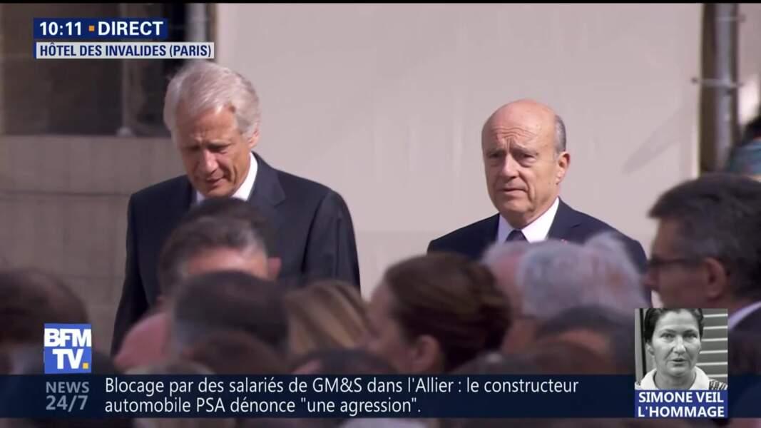 Obsèques de Simone Veil : Alain Juppé et Dominique de Villepin