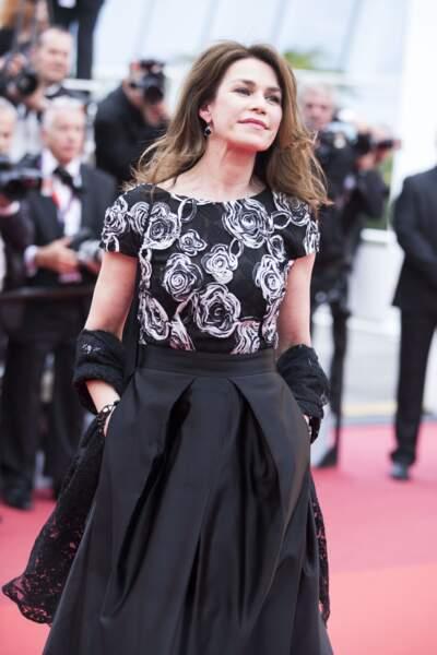 """Valérie Kaprisky (56 ans), héroïne de la série """"Un si grand soleil"""", lors du festival de Cannes, en 2016"""