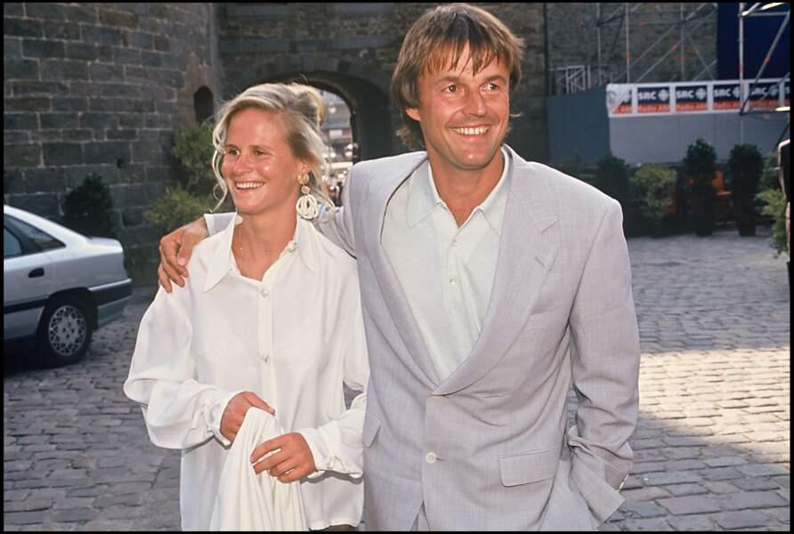 Nicolas Hulot et Isabelle Patissier lors de leur mariage en 1993
