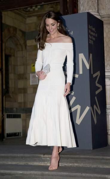 """Kate Middleton au dîner de remise du prix """"Art Fund Museum of the Year"""" le 6 juillet 2016"""