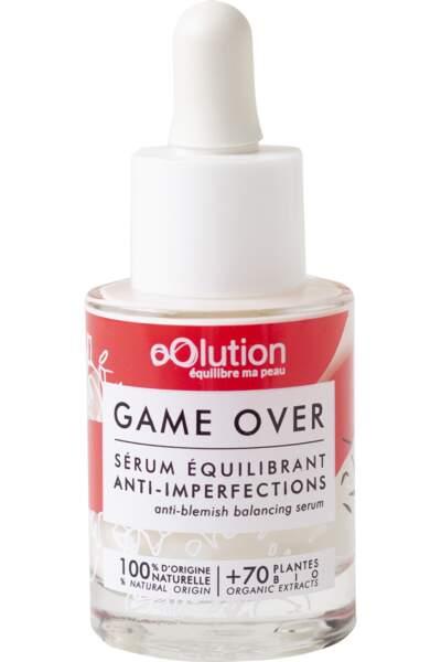 Sérum équilibrant anti-imperfections Bio Game Over de OOLUTION 39€ les 30ml chez Birchbox