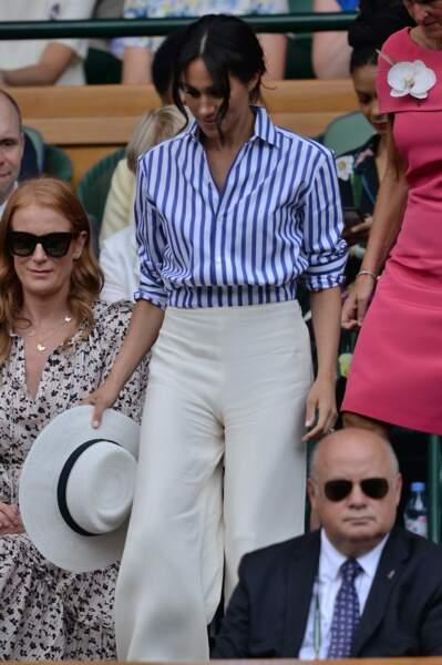 Meghan Markle en Ralph Lauren, créateur américain.