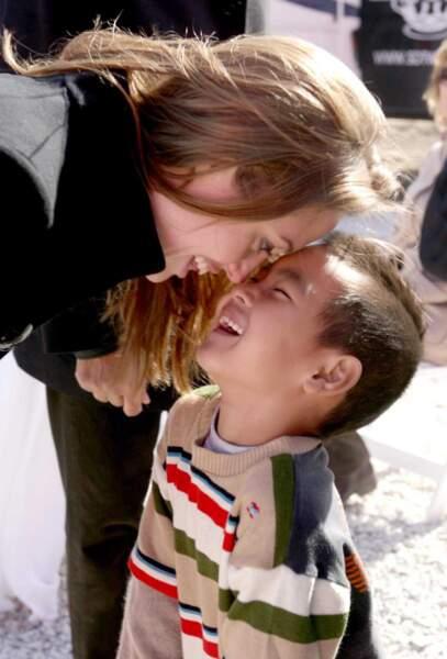 Angelina Jolie et Maddox à la Nouvelle Orléans en 2007