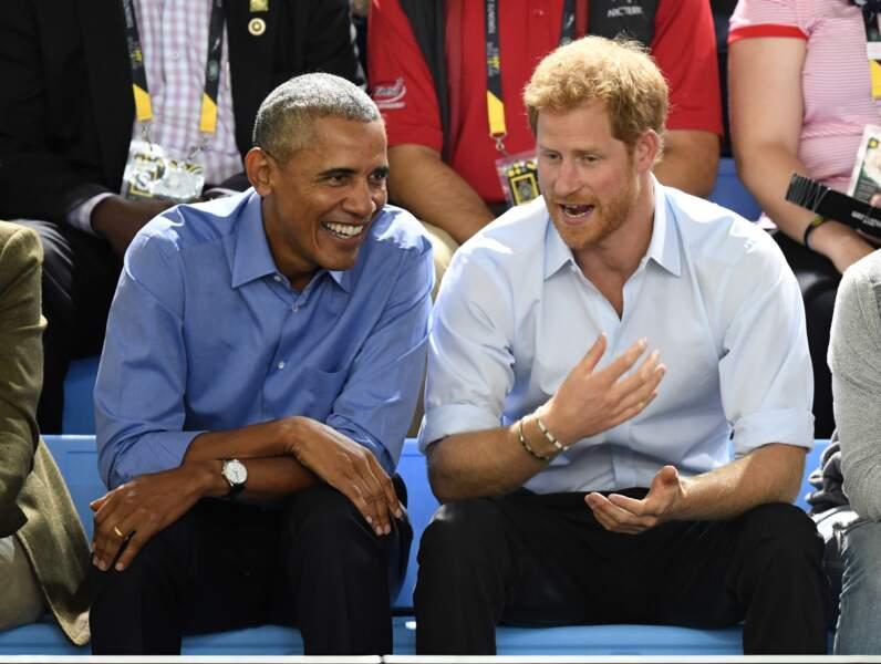 Barack Obama et le prince Harry aux Invictus Games de Toronto en 2017