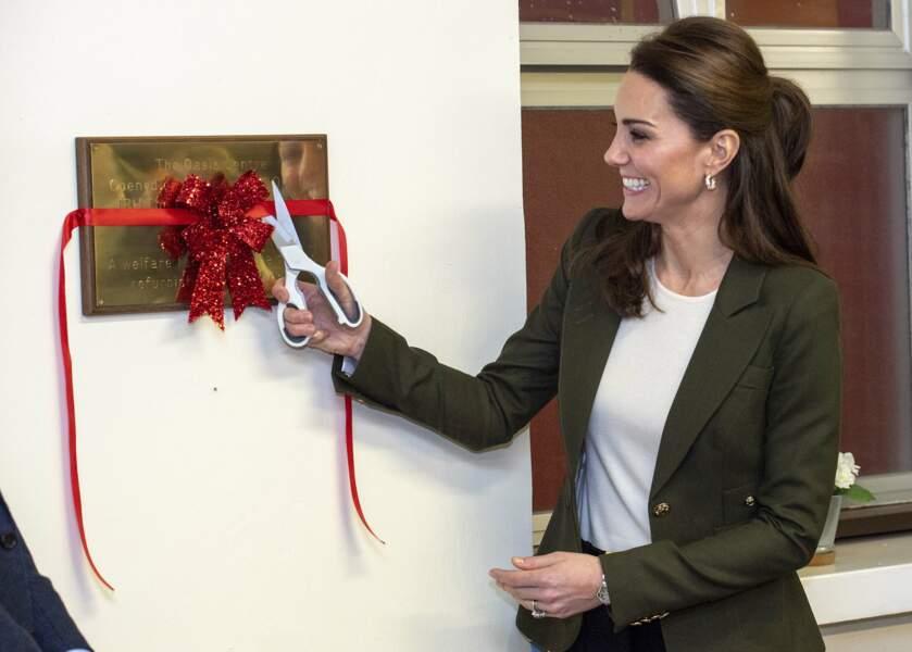 Kate Middleton lors de sa visite du RAF à Chypre