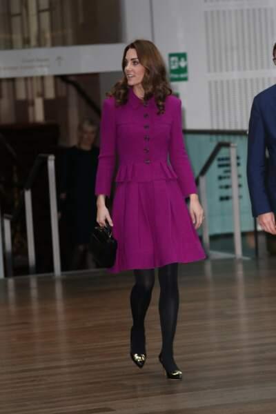 Kate Middleton très élégante pour son premier engagement seule de l'année 2019