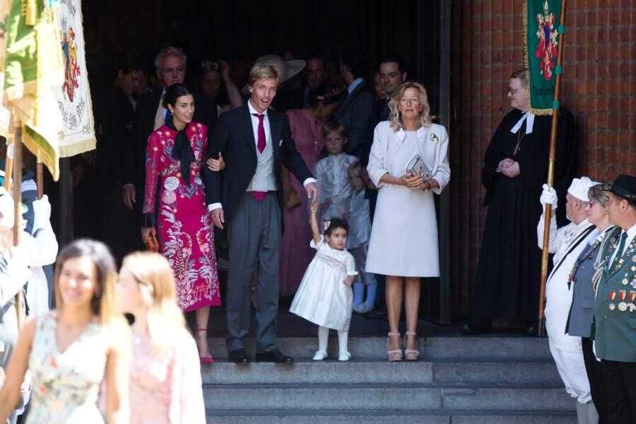 Le prince Christian de Hanovre, la comtesse Alexandra de Osma et Chantal Hochuli, la mère du marié