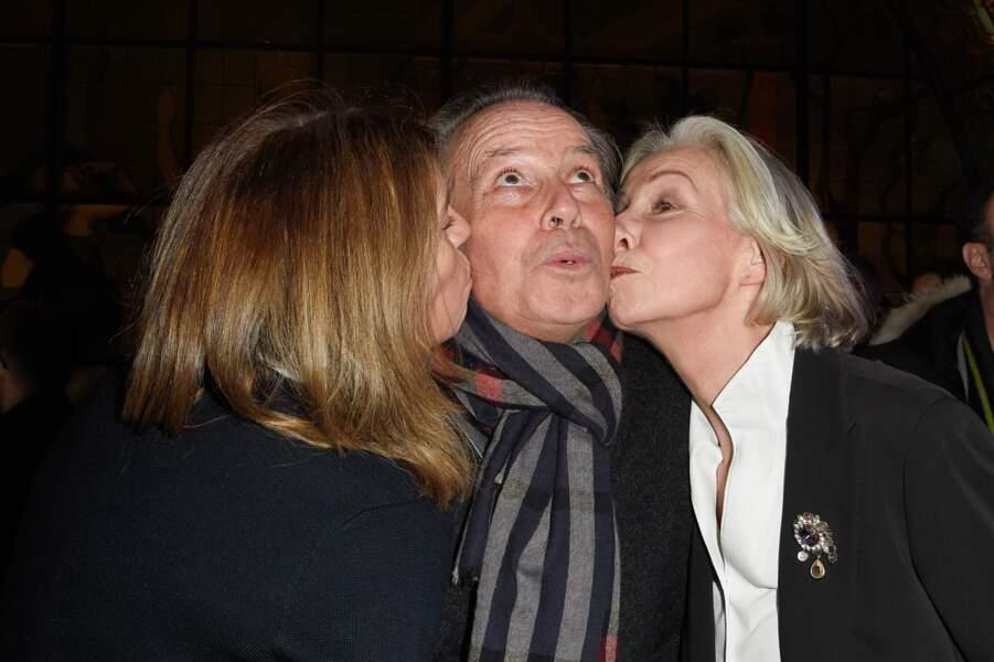 Michel Leeb, sa femme Béatrice et sa soeur Rejane Lafont