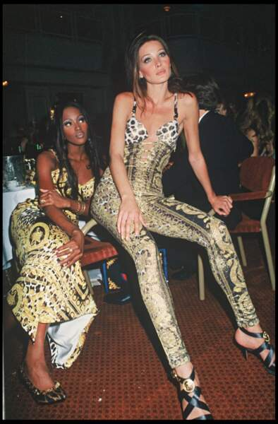 En 1992 avec Naomi Campbell lors d'une soirée à Londres
