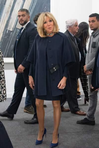 Brigitte Macron visite la FIAC