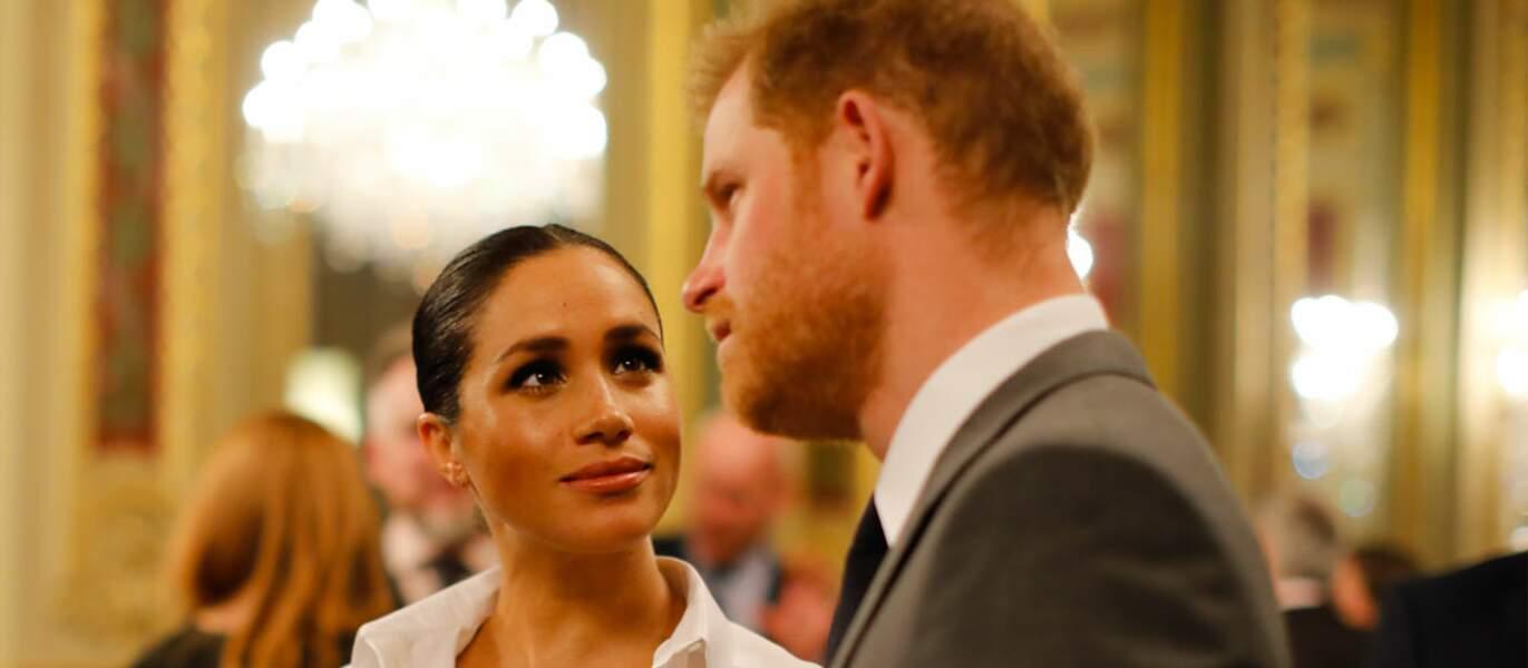 Les images de Meghan Markle admirant son mari sont plutôt rares. Les yeux de l'amour...