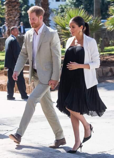 Le prince Harry et Meghan Markle lors de la visite des Jardins andalous de Rabat.