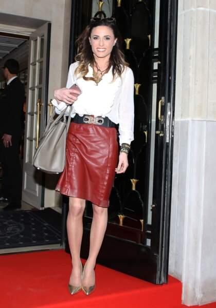 """Capucine Anav lors du """"Global Gift Gala"""" à l'hôtel Four Seasons George V à Paris, le 25 avril 2018"""
