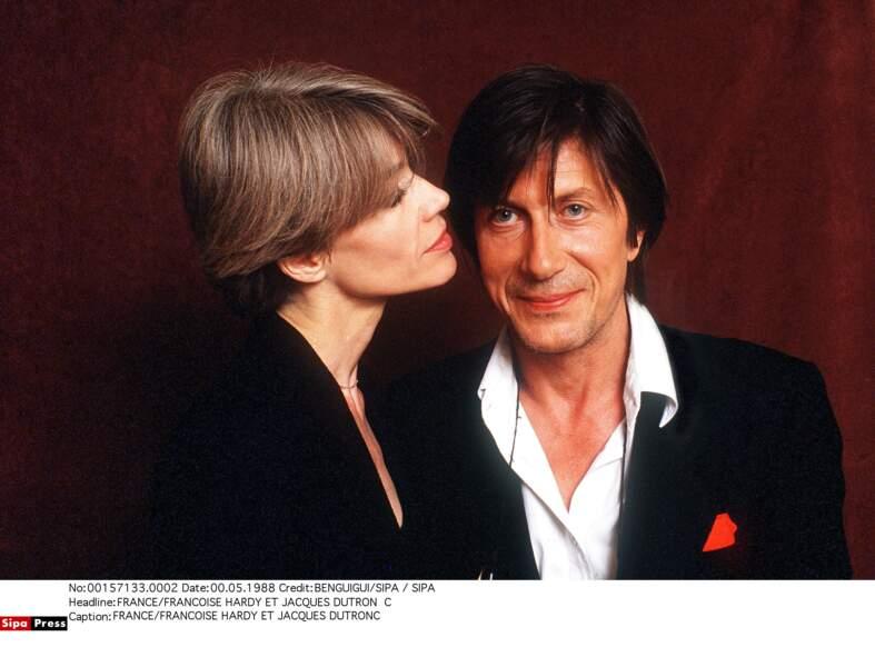 En mai 1988. Françoise Hardy et Jacques Dutronc, tendres et complices.