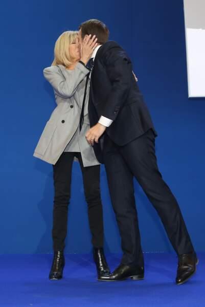 Emmanuel Macron, vainqueur du premier tour de l'élection présidentielle, à Paris, le 23 avril 2017.