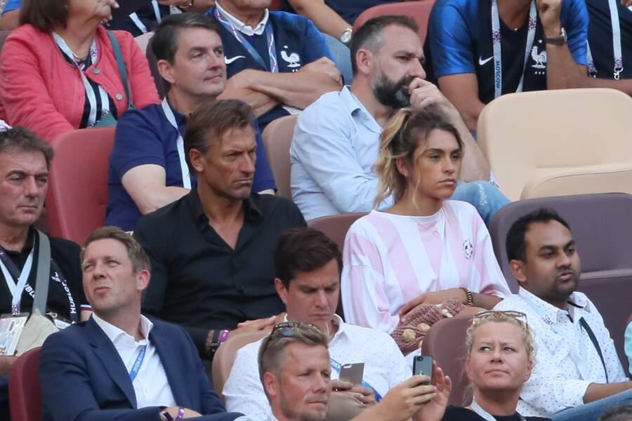 Hervé Renard et sa fille Candide Renard devant le match
