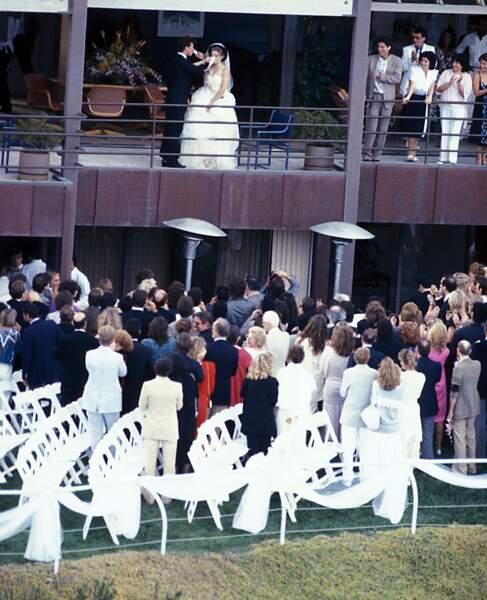 Madonna et Sean Penn lors de leur mariage, en 1985