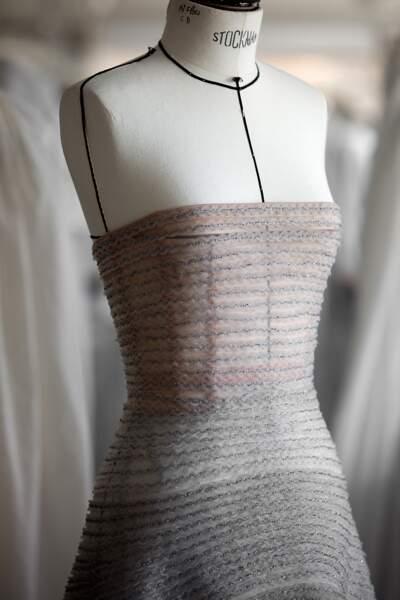 Jennifer lawrence portait cette robe Dior Haute Couture de la collection automne/hiver 2017/2018