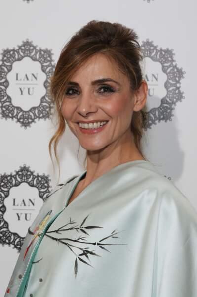 Clotilde Courau lors de la Fashion Week à Paris, le 5 juillet 2017