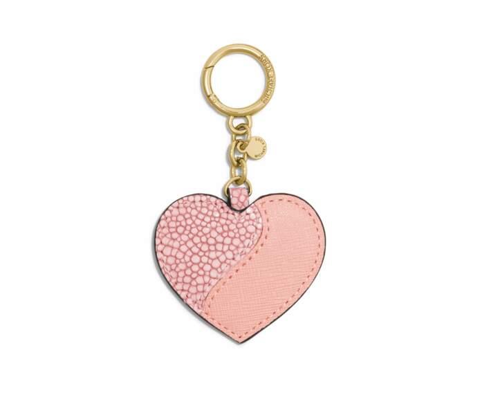 Pompon cœur en cuir, MICHAEL Michael Kors, 45 euros