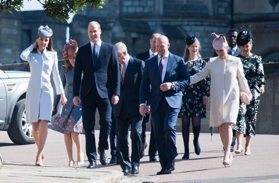 Le prince William et Kate sont arrivés avec plusieurs autres membres de la famille royale