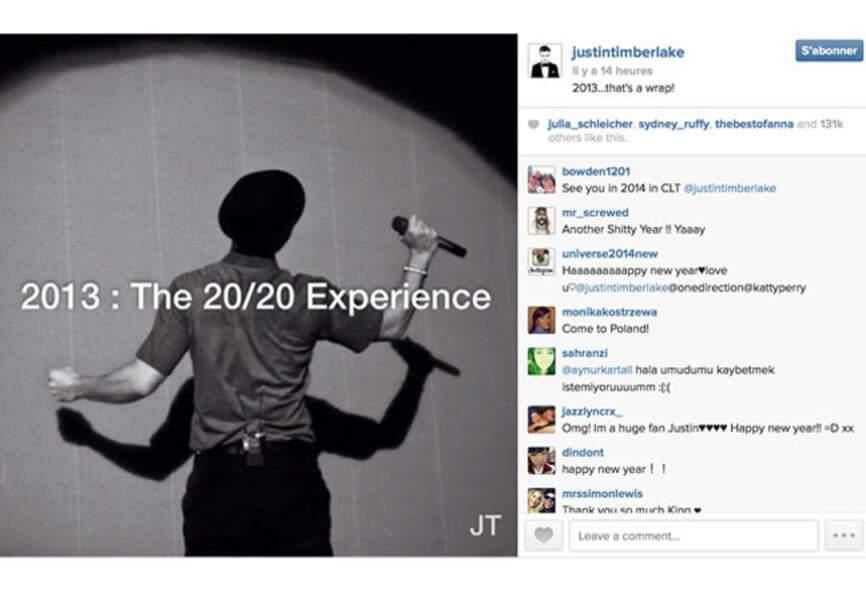 Justin Timberlake revient sur l'année 2013