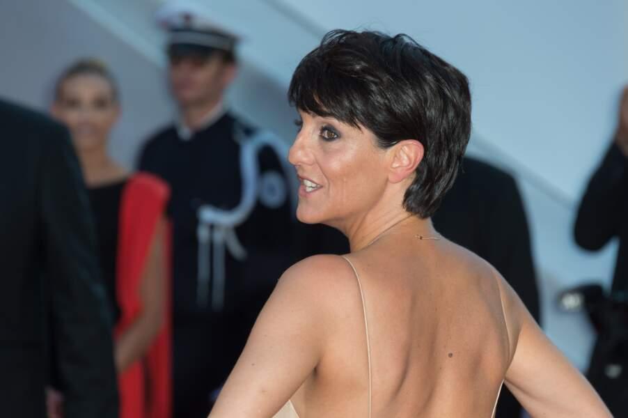 Florence Foresti arrive pour la clôture du festival de Cannes