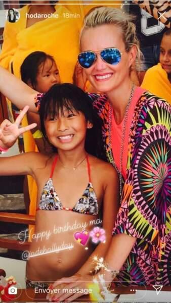 Hoda Roche, une amie de Laeticia Hallyday, souhaite un très bon anniversaire à Jade