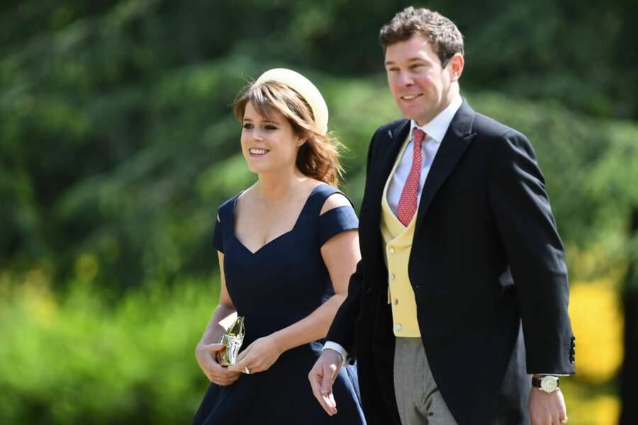 La princesse Eugenie et son futur mari Jack Brooksbank au mariage de Pippa Middleton
