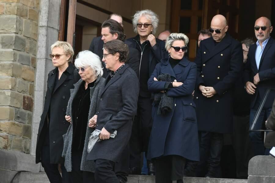 Muriel ROBIN, Catherine LARA, Francis CABREL, Luc Plamondon, Pascal OBISPO cérémonie en hommage à Maurane