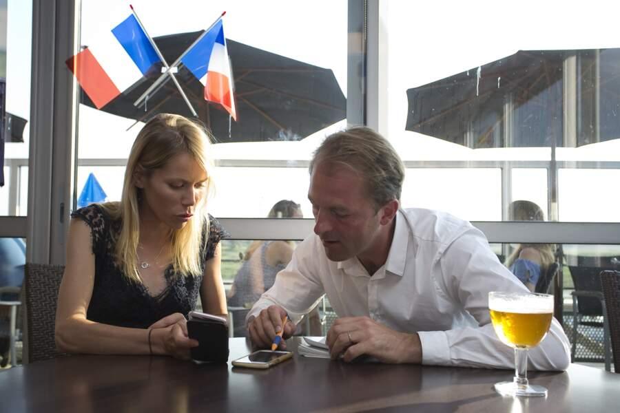 Tiphaine Auzière et Thibault Guilluy lors de la soirée électorale du deuxième tour pour la 4em circonscription des