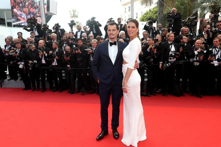 Laury Thilleman et Juan Arbelaez à Cannes le 23 mai 2017