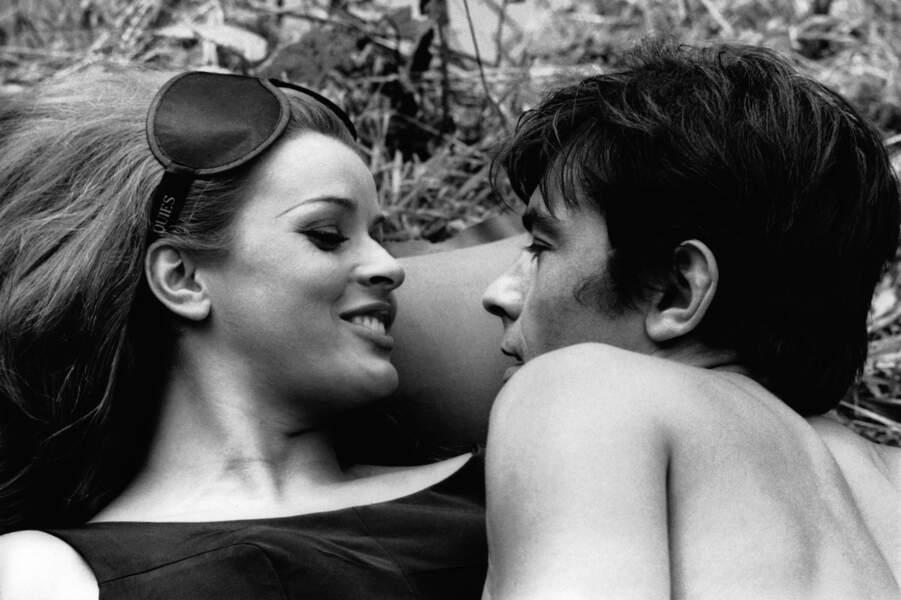 Alain et Nathalie Delon 1970
