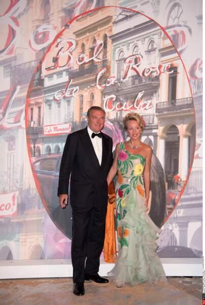 Le prince Charles de Bourbon Deux-Siciles au bras de son épouse la princesse Camilia de Bourdon Deux-Siciles