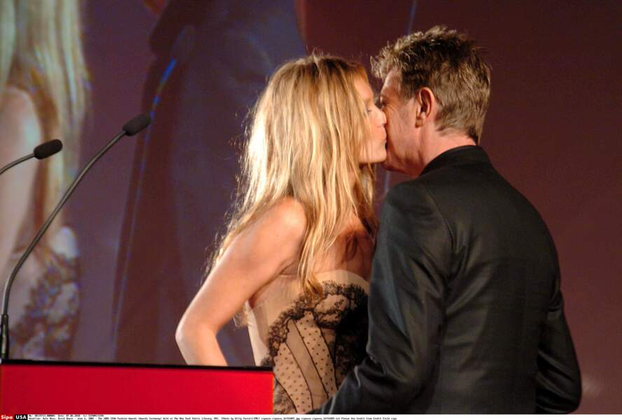 Kate Moss et David Bowie le 6 juin 2005 aux CFDA Fashion Awards à The New York Public Library,