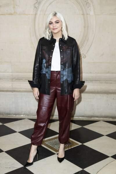 Louane lors du défilé Christian Dior lors de la Fashion Week à Paris le 26 février 2019