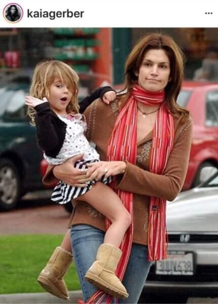 kaia Gerber et sa mère Cindy Crawford