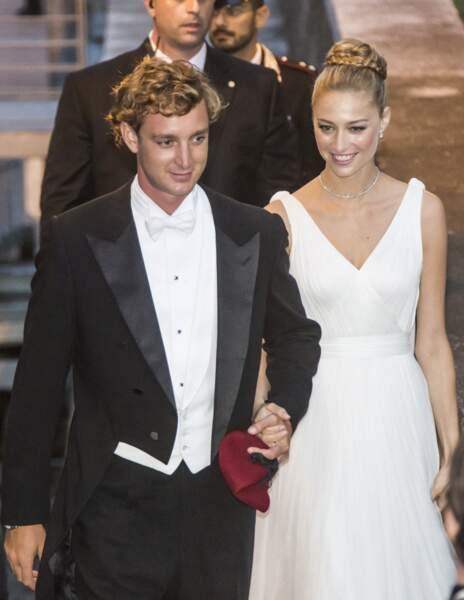 Beatrice Borromeo  avec un chignon de princesse le 1er août 2015