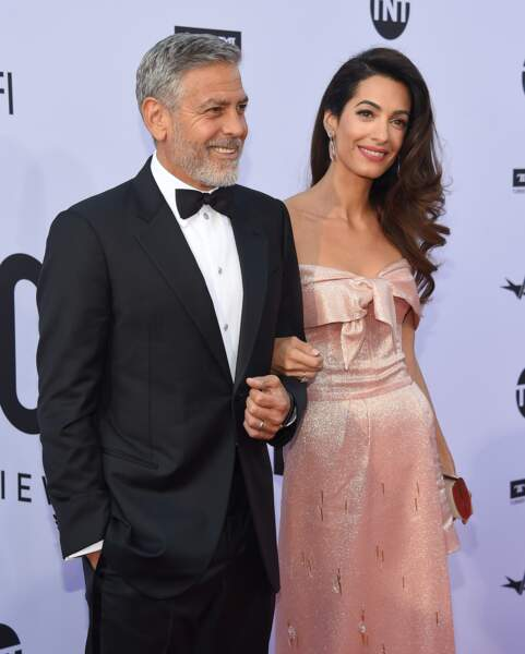 George Clooney, Amal Clooney sublime en robe Prada