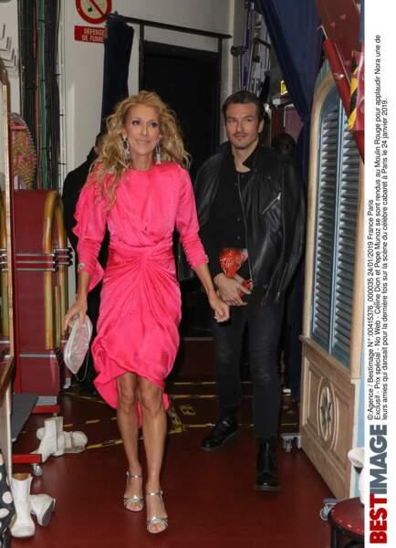 Céline Dion et Pepe Munoz au Moulin Rouge le 24 janvier 2019