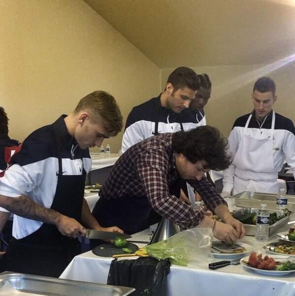 Jean Imbert, Olivier Giroud, Paul Pogba, Antoine Griezmann et Laurent Koscielny