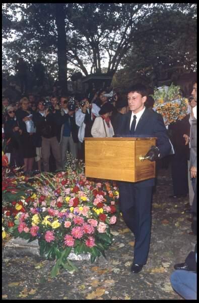 L'enterrement de François Truffaut au cimetière de Montmartre le 28 octobre 1984