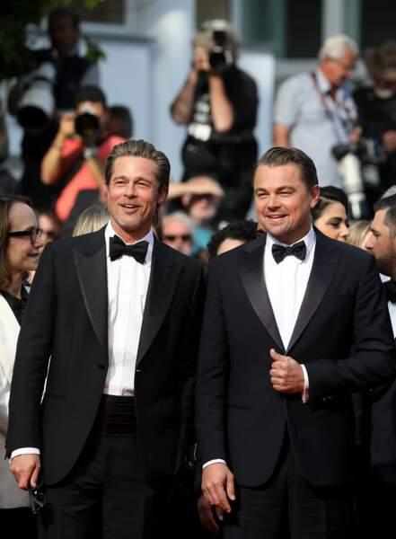Brad Pitt en Brioni et Leonardo Dicaprio en Armani, une leçon de style et d'élégance sur le tapis rouge cannois