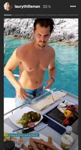 Juan Arbelaez, le chef chéri de Laury Thilleman, lui prépare à manger en Grèce