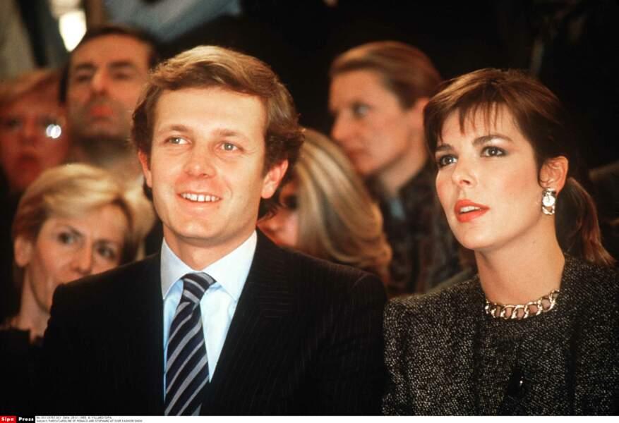 Stefano Casiraghi et la princesse Caroline de Monaco, le couple le plus glamour des années 80.