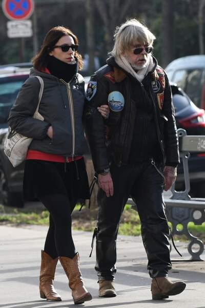 Renaud et Lola Sechan : Obseques De Thierry Sechan - Paris